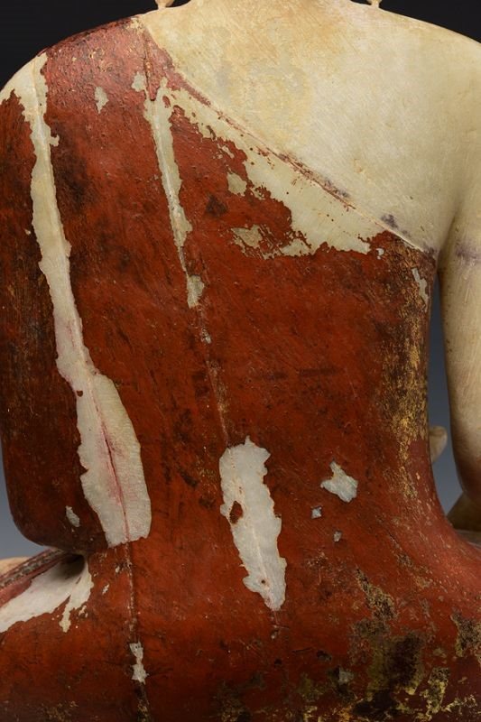 Burmese Alabaster Seated Buddha