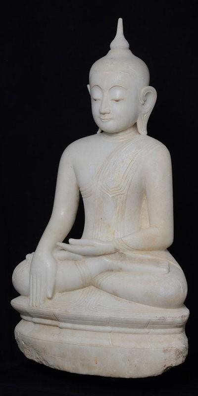 Burmese Alabaster Seated Buddha Early 16th Century