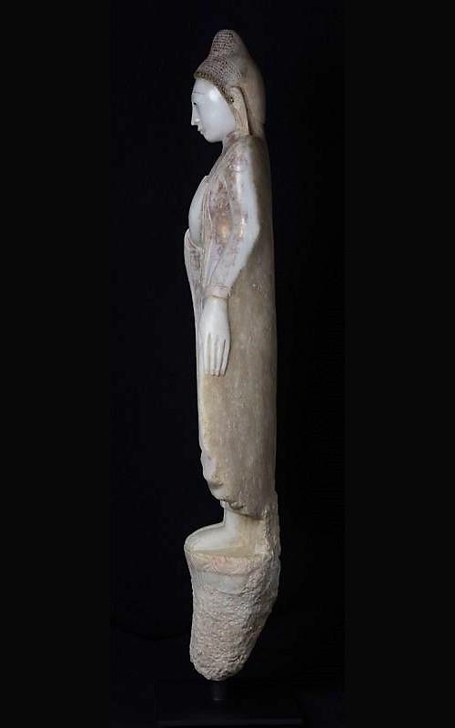 Burmese Alabaster Standing Buddha