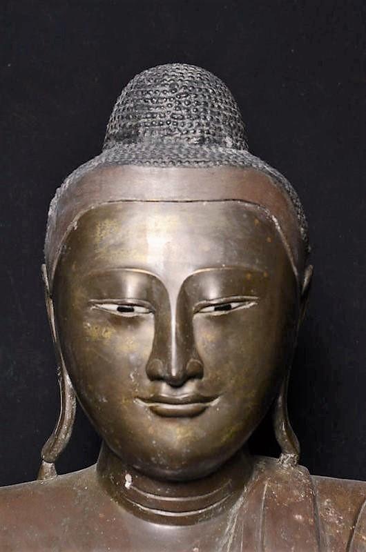 Burmese Bronze Seated Buddha