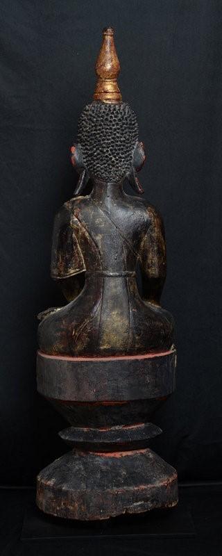 Burmese Tai Lue Wooden Seated